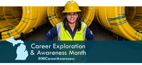 Career Exploration and Awareness Month graphic image