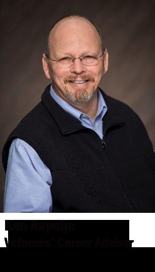 Photo of Veterans' Career Advisor Ken Rapelje