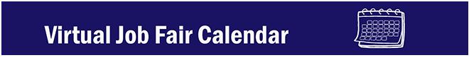 Virtual Job Fair Calendar banner