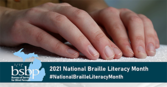 National Braille Literacy Month graphic image