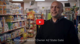 Radwan Dabaja standing in convenience store