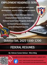 October 5 Employment readiness flyer
