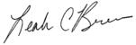 Leah Breen signature