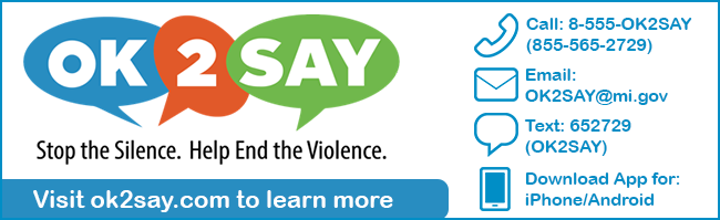 OK2SAY - Stop the Silence. Help End the Violence - visit ok2say.com to learn more
