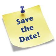 Save the Date sticky note - transparent background