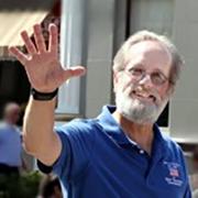 Jim waving