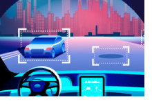 Connected cars illustration
