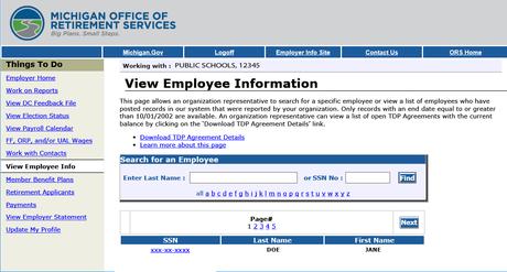 View Employee Info
