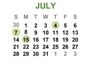 July Important Dates