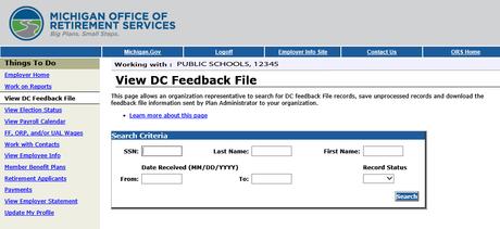 DC Feedback File