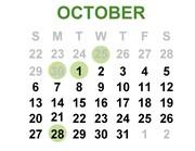 September-October 2019 Calendar