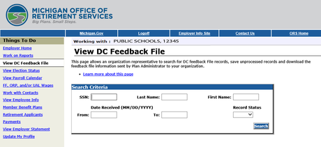 View DC Feedback File