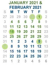 Jan-Feb calendar