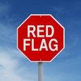 Stop Sign - Red Flag