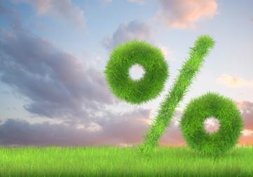 Percent in grass