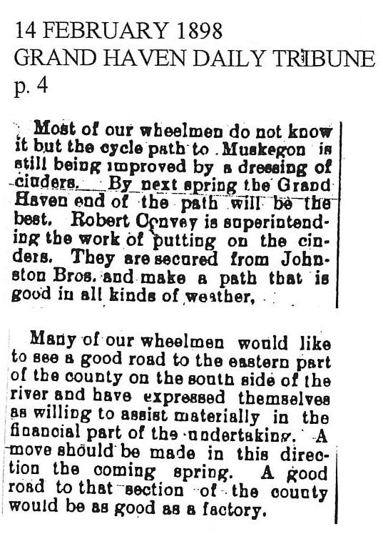 Grand Haven Tribune Feb 14 1898
