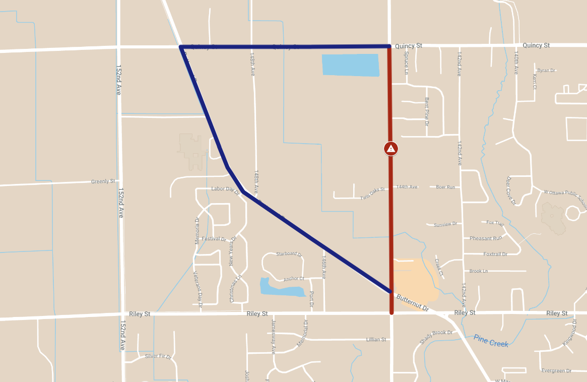 144th Avenue Road Clousure and Detour