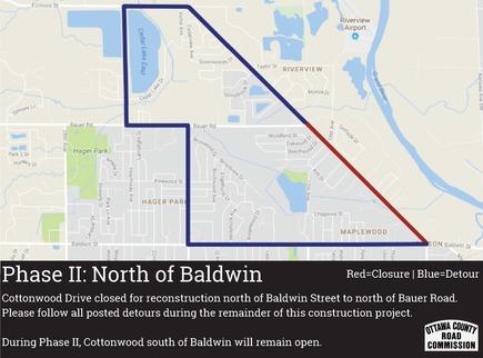 Cottonwood Drive project detour