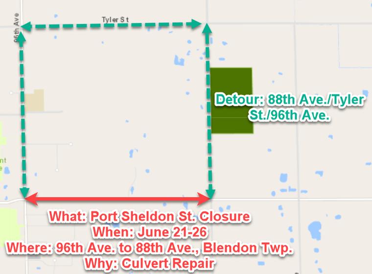 Port Sheldon Closure Revised