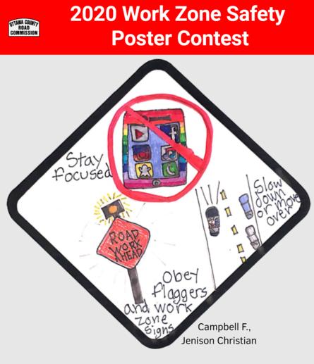 OCRC 2020 Work Zone Safety Poster Contest Winner