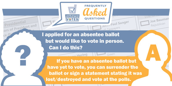 FAQ: I applied for an absentee ballot, but would like to vote in person