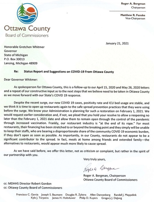 Governor Letter 2021