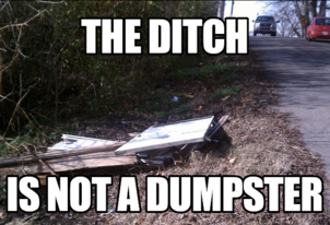 Ditch Dumpster