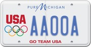 Olympic license plate