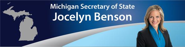 Secretary Benson banner