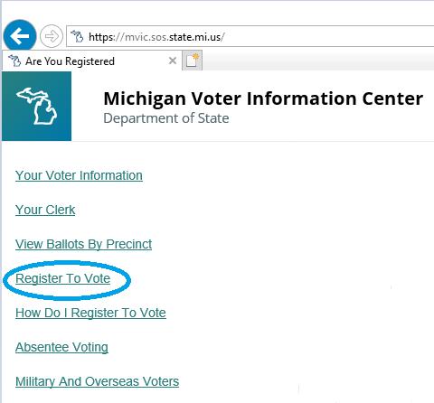 online voter registration