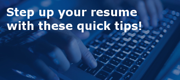 7 quick resume tips