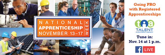 Tune in to Going PRO with Registered Apprenticeships on Nov. 14 at 1 p.m.