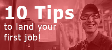 10 tips to land your first job.
