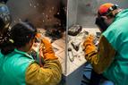 CTE Students welding.