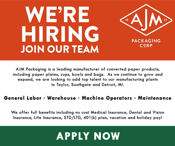 Apply today to join the AJM Packaging team today! Hiring a variety of positions and includes a full benefits package!