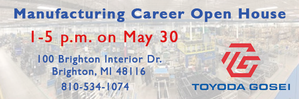 Join us for the Manufacturing Career Open House on May 30 from 1-5 p.m.