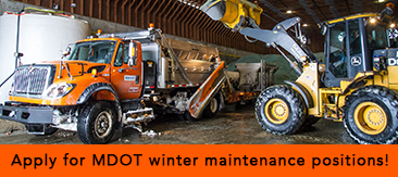 Apply for MDOT winter maintenance positions!