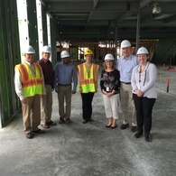VDL staff visiting Willmar lab construction