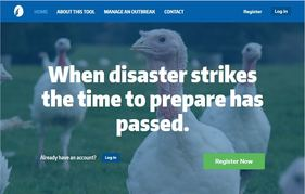 Website image capture of poultry planning tool
