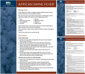 African Swine Fever flyers example
