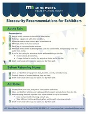 Biosecurity for exhibitors flyer example