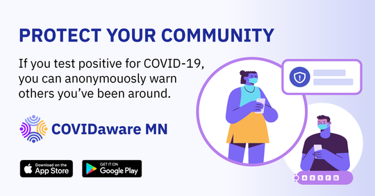 Protect your community and download the COVID Aware app today.