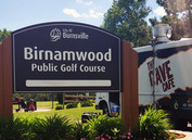 Food truck in parking lot of Birnamwood Golf Course
