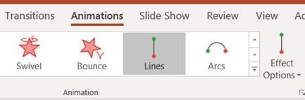 PowerPoint Animations Toolbar Location