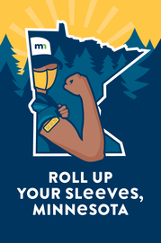 Roll Up Your Sleeves, Minnesota logo. Refer to text for complete description.