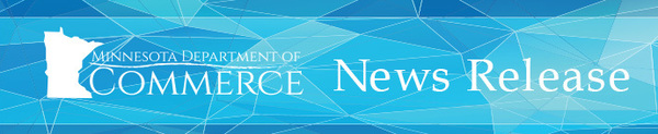 Minnesota Department of Commerce News Release Header