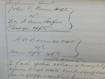 Handwritten Appellate Brief