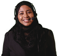 Somali woman with headset