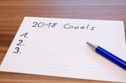 2018 goals written on paper