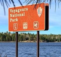Voyageurs National Park sign